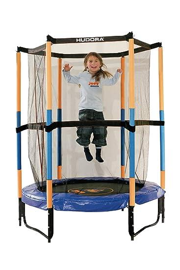HUDORA Kinder-Trampolin Jump In mit Sicherheitsnetz - 140 cm, blau ...
