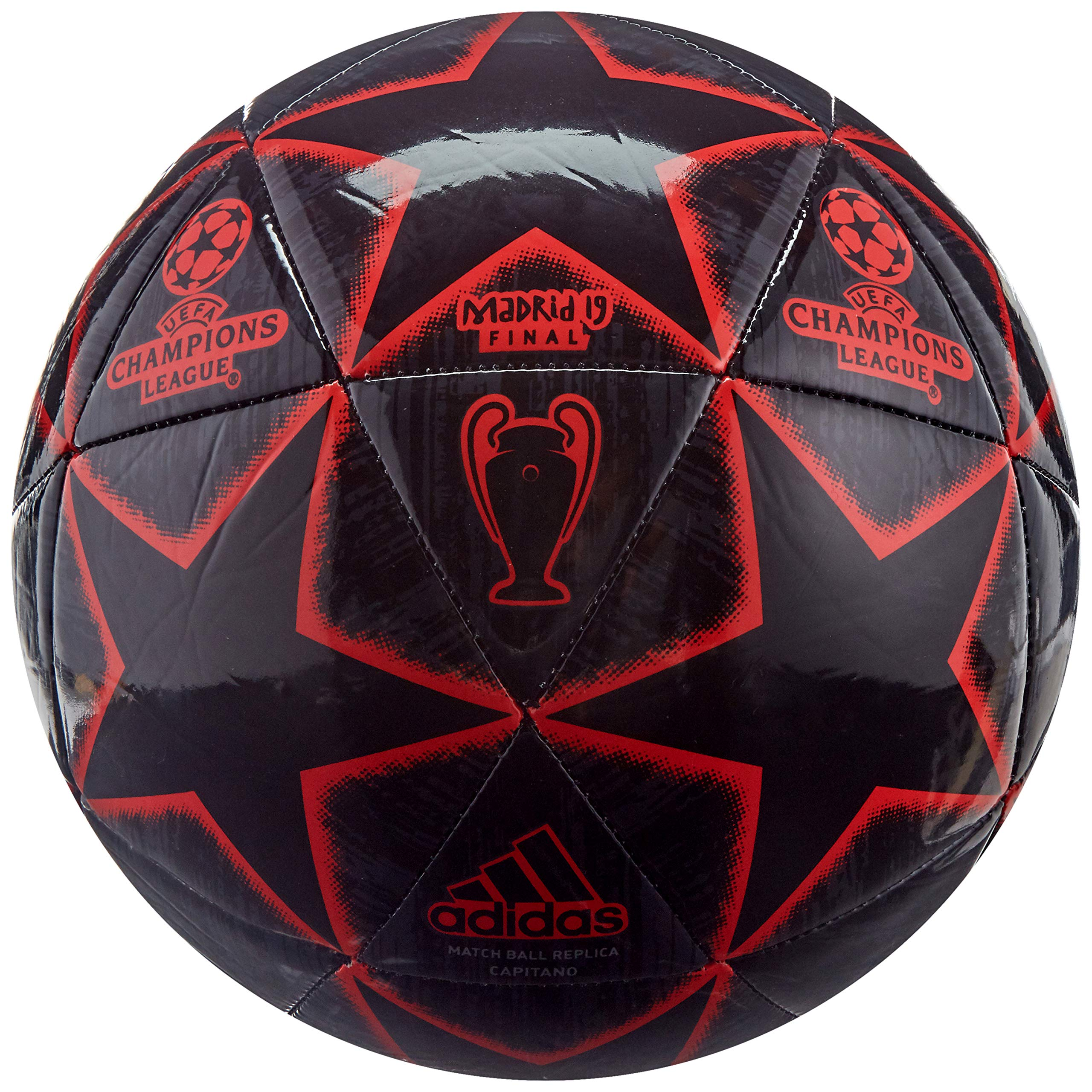 adidas Finale Glider Soccer Ball Black/Night Grey/Active Red Bottom: Bold Blue, 3