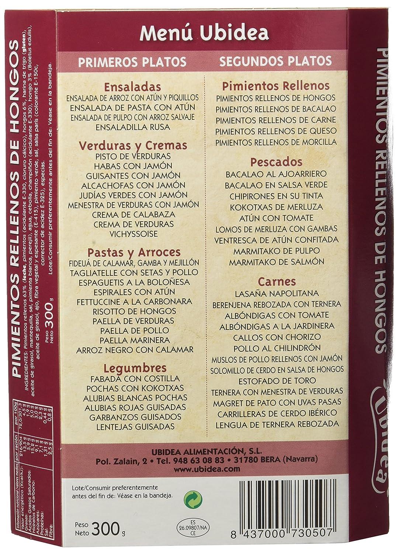 Pimientos Rellenos de Hongos - Ubidea - 3 platos: Amazon.es: Alimentación y bebidas