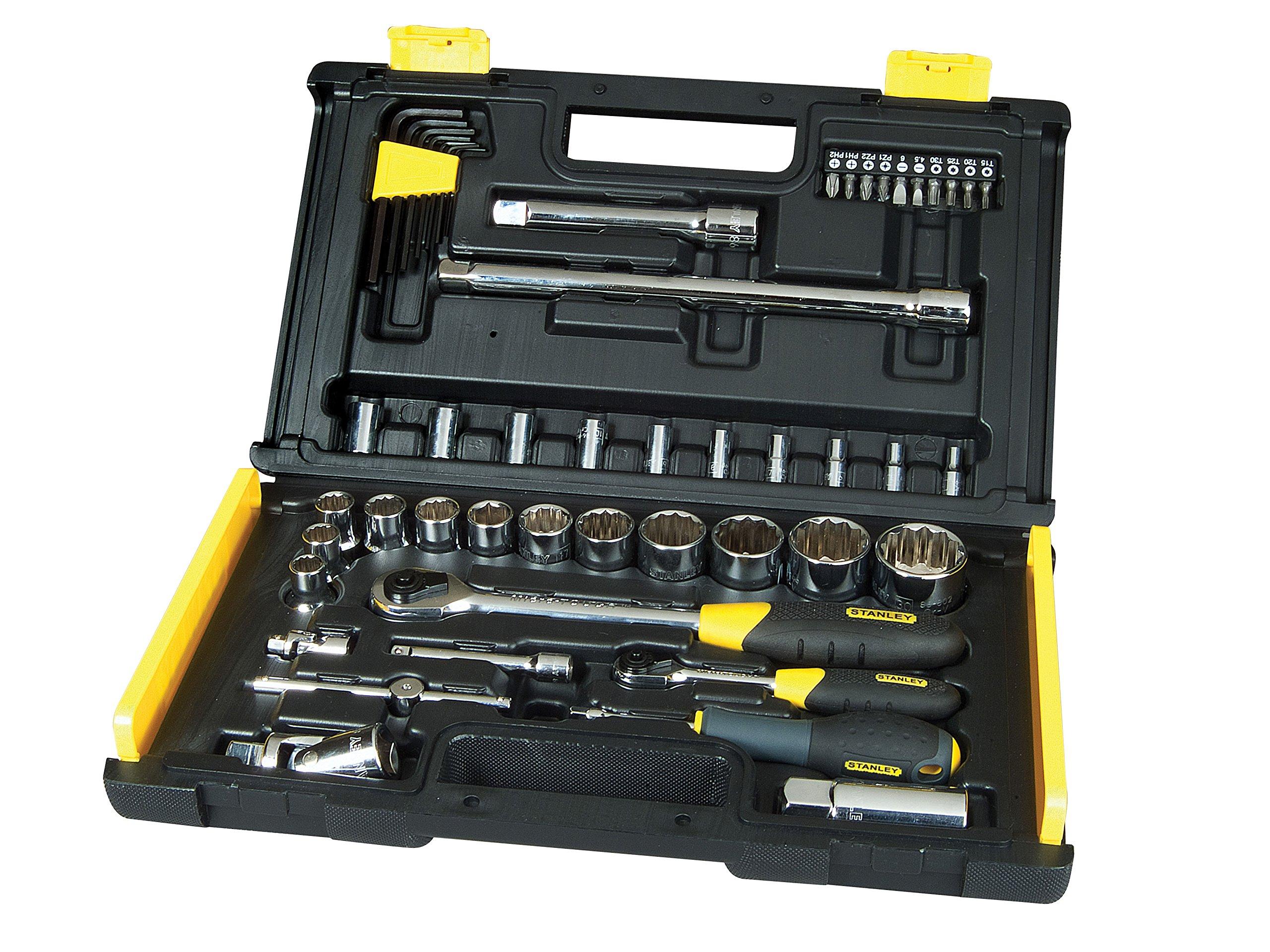 Stanley Microtough Socket Set 50pc 1/4 & 1/2in Drive