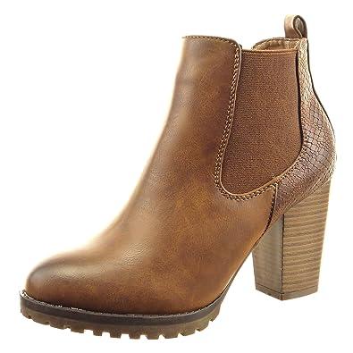 Boots Sopily Bottine Mode Peau Femmes Chaussure Montante Chelsea Iq7CSqgw