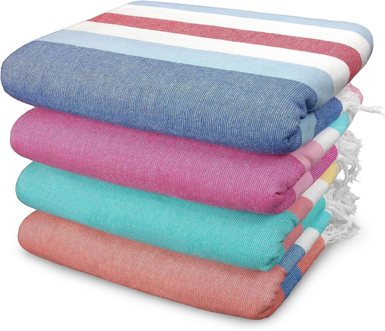 Kaufman - Sand Free Fouta Stripe Beach Towel Set