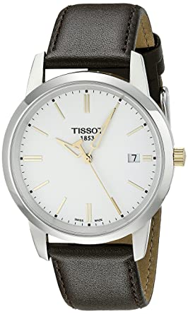 cdf1a3485df Amazon.com: Tissot Men's TIST0334102601100 Class Dream White Dial ...