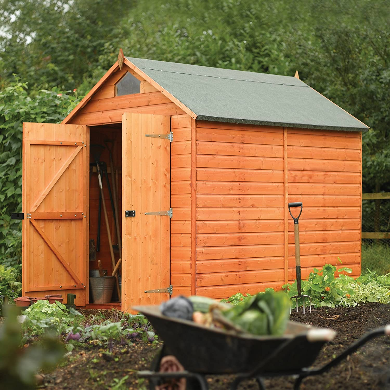 amazoncom rowlinson a053 secure storage shed 8 by 6 patio lawn garden