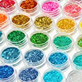 36 Boxes Chunky Glitter Nail Sequins Holographic Chunky Glitter Sequins Cosmetic Laser Iridescent Festival Powder Sequins Cra