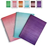 A4 Notebooks - 3 Pack - HARDBACK - LEXY NOTES - Modern Spiral Wirebound notepads - The Brights