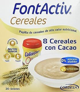 Fontactiv Cereales con Cacao Suplemento Nutricional - Paquete de 2 x 300 gr - Total: