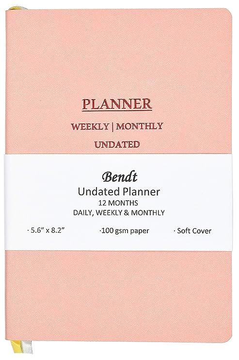 Amazon.com: Bendt - Planificador semanal sin fechas, con ...
