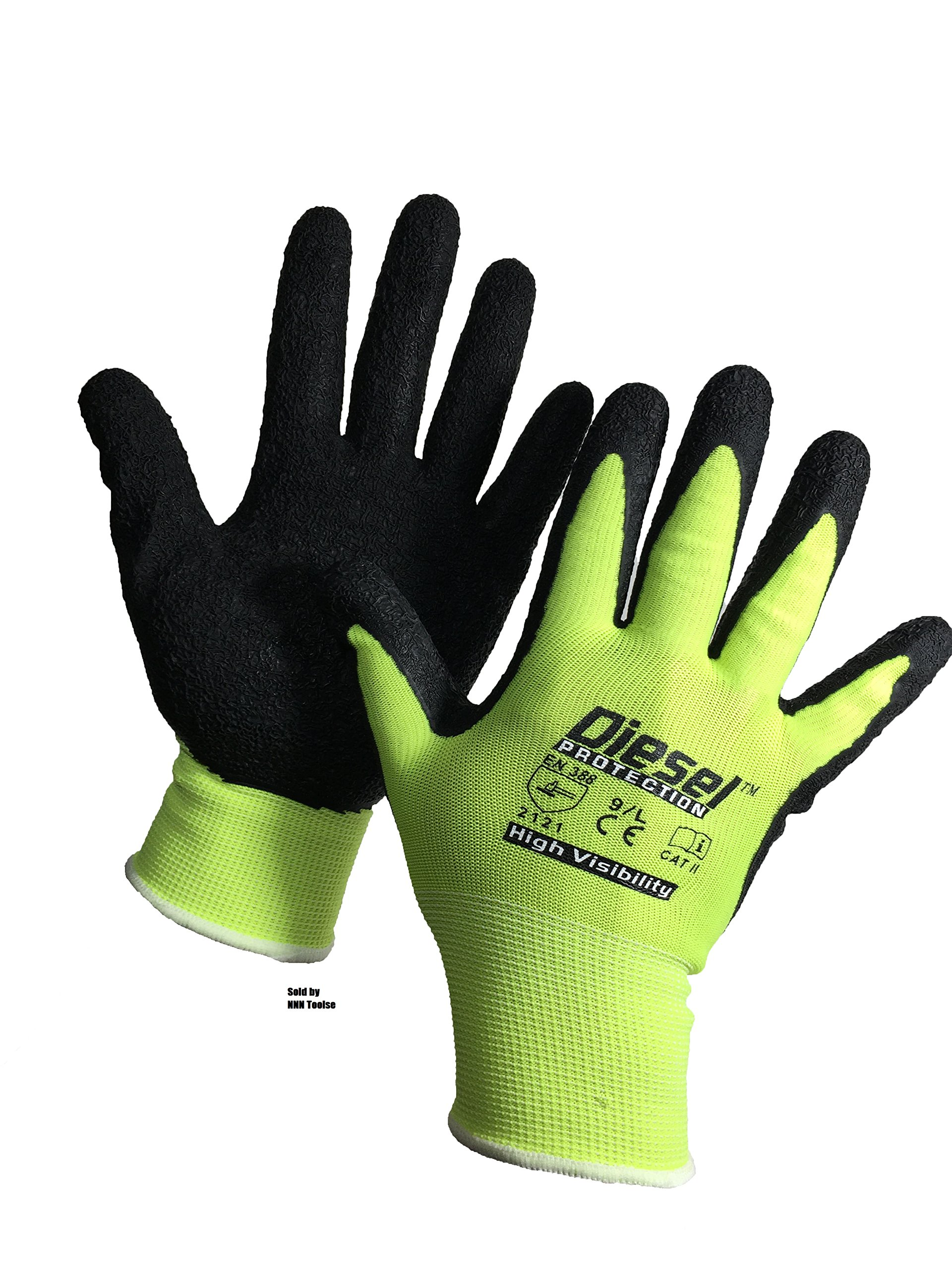 Size: Small/ 6 Pair Diesel-Grip Lime Safety Gloves Lime Safety Glove General Purpose