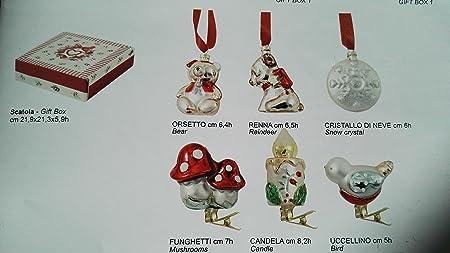 Addobbi Natalizi Wald.Wald Set 6 Decorazioni Albero Confezione Regalo Natale