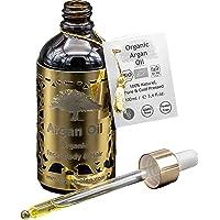 Arganöl Bio kaltgepresst – Marokkanisches Fair Trade Öl für Haare, Gesicht, Nägel und Lippen, sowie gegen Narben und Pickel & als Massageöl – Flasche mit Pipette (100ml)