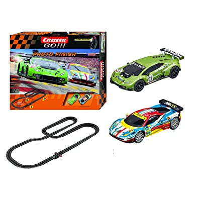 Carrera GO!!! Photo Finish 1:43 Scale Electric Powered Slot Car Race Track Set System 28 Feet: Toys & Games [5Bkhe0301754]