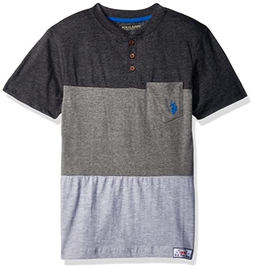 ff85b882 Amazon.com: U.S. Polo Assn. Boys' Short Sleeve Color Block Henley T ...