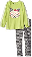 Kids Headquarters Baby Girls' Tunic with Bow On The Back and Leggings Set