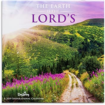"""The Earth is the Lord/'s 16 Month 2019 Wall Calendar 12/""""X24/"""" w"""