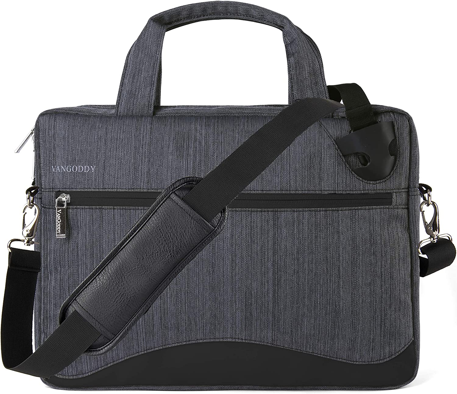 Black Anti-Theft Laptop Messenger Bag for Microsoft Surface Pro 7 6 12.3, Pro X 13, Laptop 3 2 13.5