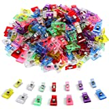 100 PCS-2 Sizes Ipow Plastic Clips Multicolor for Sewing Clips,Crafting,Crochet and Knitting,All Purpose Clips for Quilting Binding Clips,Paper Clips,Blinder Clips