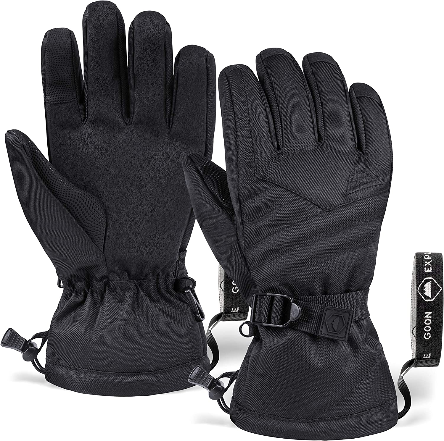 Touch Screen Ski & Snow Gloves - Cold Weather Waterproof Winter Snowboard Gloves for Men & Women - For Skiing & Snowboarding : Sports & Outdoors