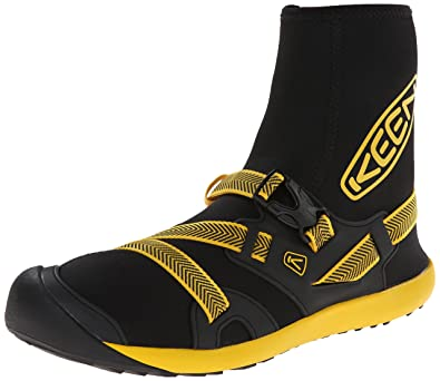 019cc8ebb9 KEEN Men's Gorgeous Water Boot, Black/Yellow, 14 M US: Amazon.co.uk ...