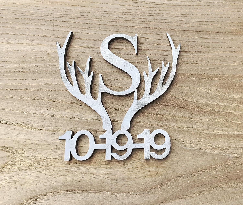 Amazon Com Wedding Branding Iron Antler Design Brander Custom Initial And Date Handmade