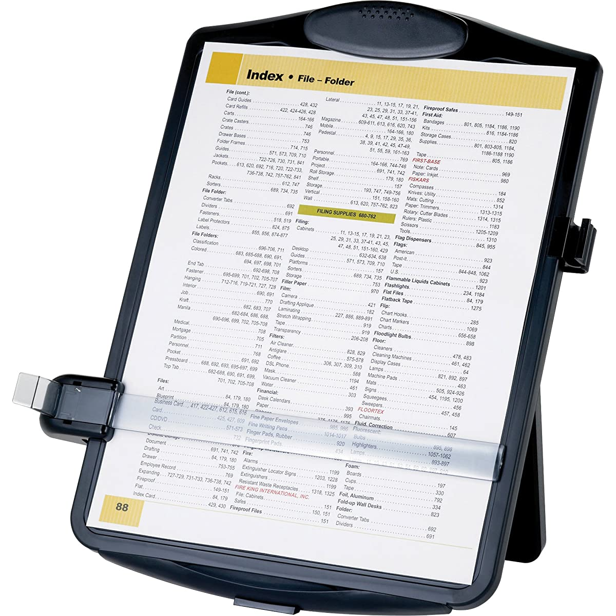 Sparco SPR38950 Easel Document Holders, Adjustable, 10 x 2 x 14 Inches, Black
