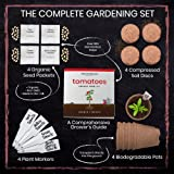 Nature's Blossom Tomato Garden Kit. Grow 4 Types of Tomatoes from Seed. Gardening Starter Set For Growing Unusual Tomatoes; Sweet Red Tomato, Black Cherry, Yellow Pear Tomato and Green Zebra