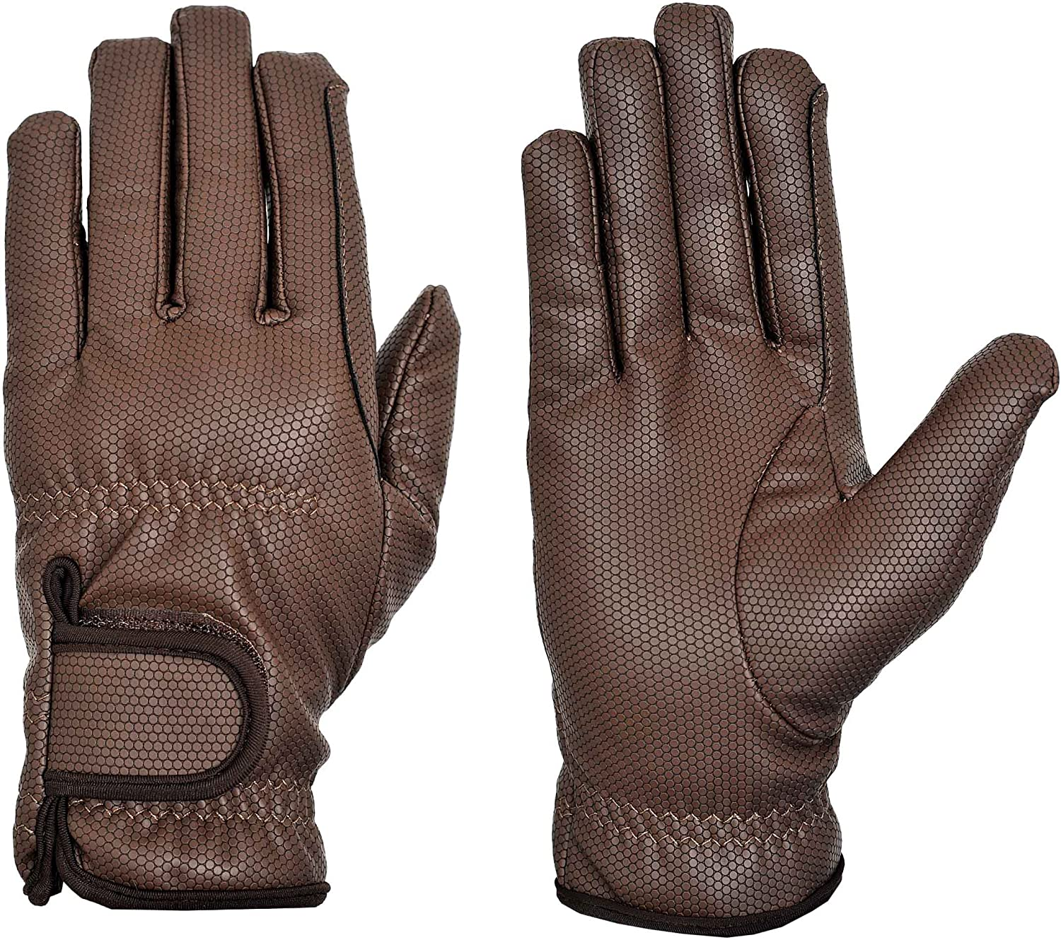 Guantes de equitaci/ón Riders Trend Embossed Synthetic PU Riding Gloves