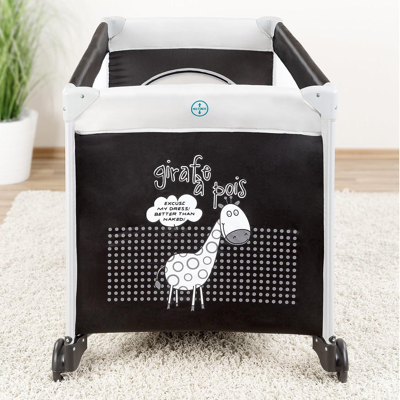Baby reisebett giraffe (mit rollen, matratze, transporttasche ...