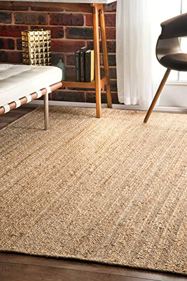 High Quality NuLOOM Jute Collection 100 Percent Jute Area Rug, 8 Feet Round, Solid
