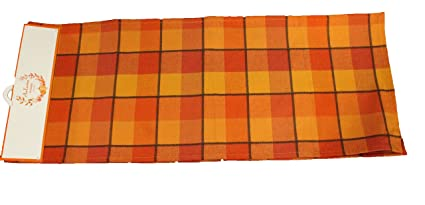Twisted Anchor Trading Co Fall Table Runner   Harvest Plaid   Casual Cotton Fall  Table Runners