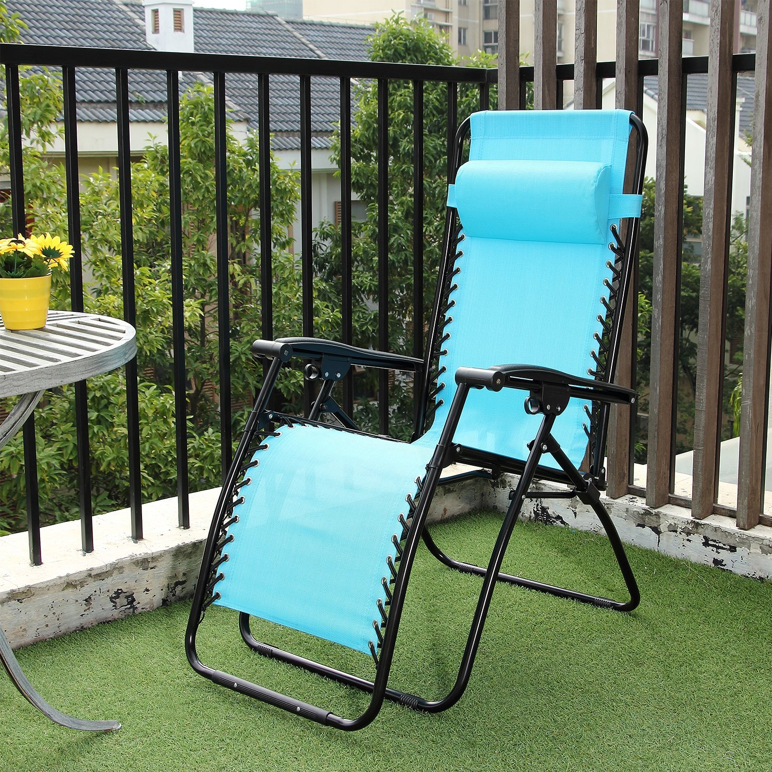Amazon Ollieroo 2 Pack Blue Zero Gravity Lounge Chair with