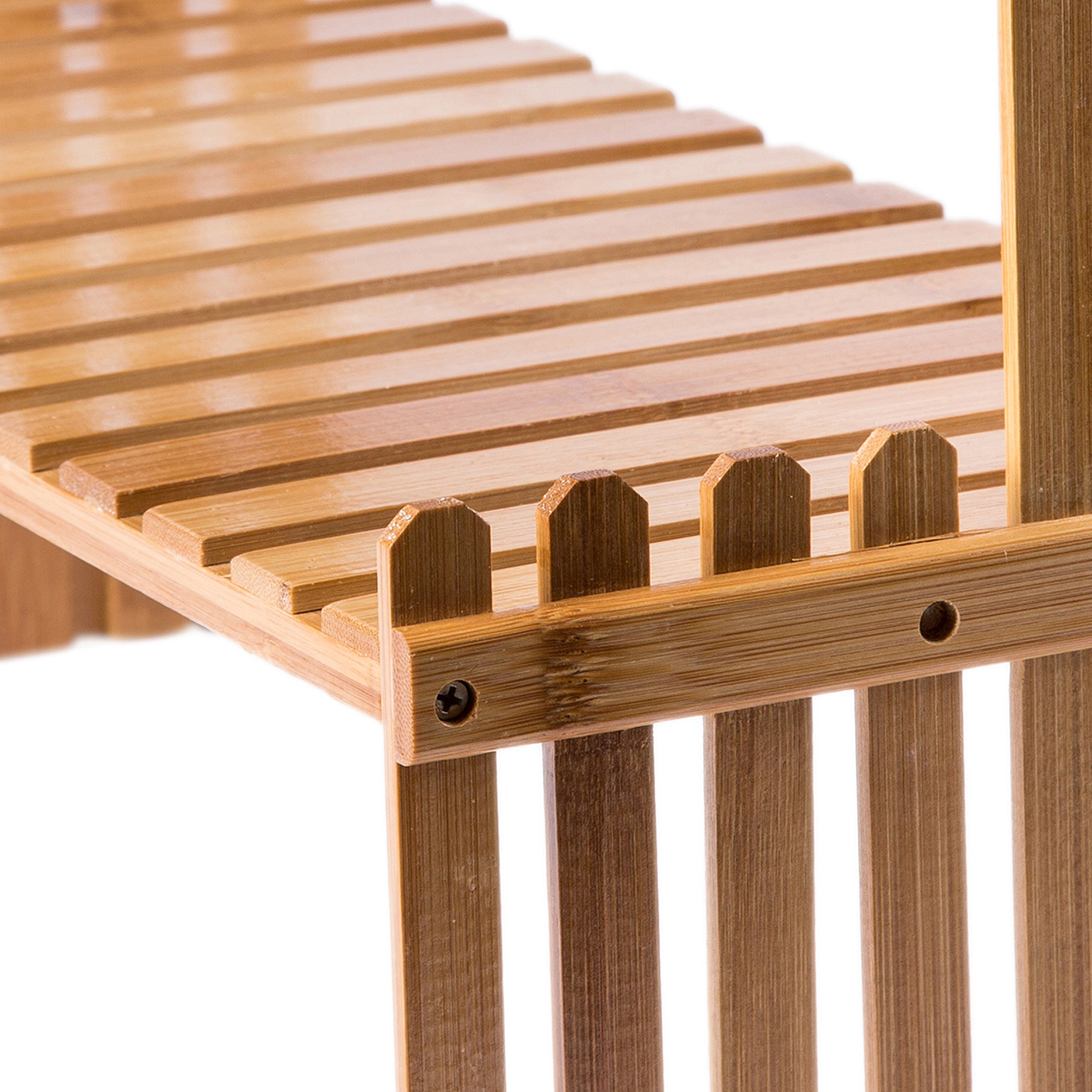 MyGift Tabletop Natural Bamboo Plant Stand, 2 Tier Desktop Shelf Rack, Brown by MyGift (Image #5)