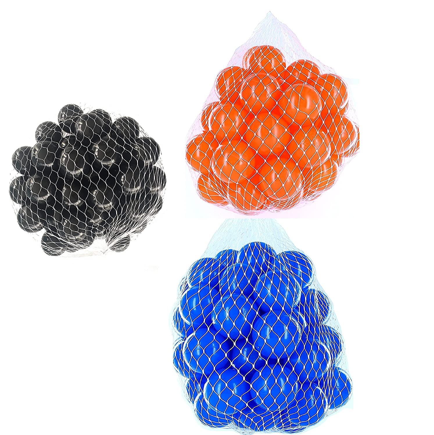 900 Stück Balls For Ball Pool Mix Set with bluee, orange & Black