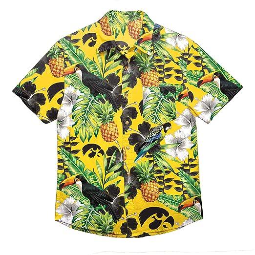 671e3b7a NCAA Iowa Hawkeyes Foco Floral Button Up Shirt, Team Color, Small