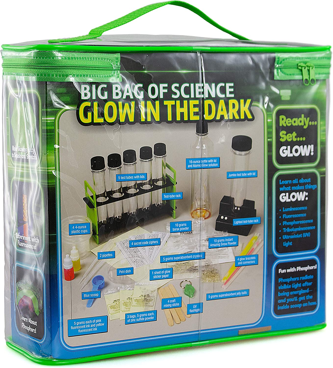 Gifting Idea for Boys /& Girls Lab in A Bag of to Make Glowing Slime /& 50+ Illuminating Experiments Big Bag of Glow In The Dark Science For Kids 8-12 STEM Science Chemistry Experiment Set