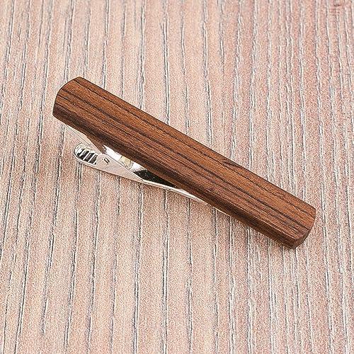 amazon com rosewood wood tie clip wooden tie bar custom