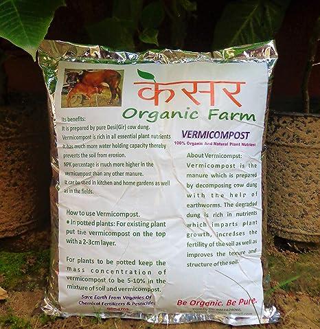 Kesar Organic Farm Vermicompost 1.9Kg, Treated with Trichoderma Viride(Biofungicide),