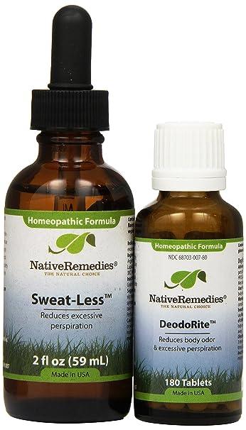 Amazon Native Remedies Sweat Less And DeodoRite ComboPack