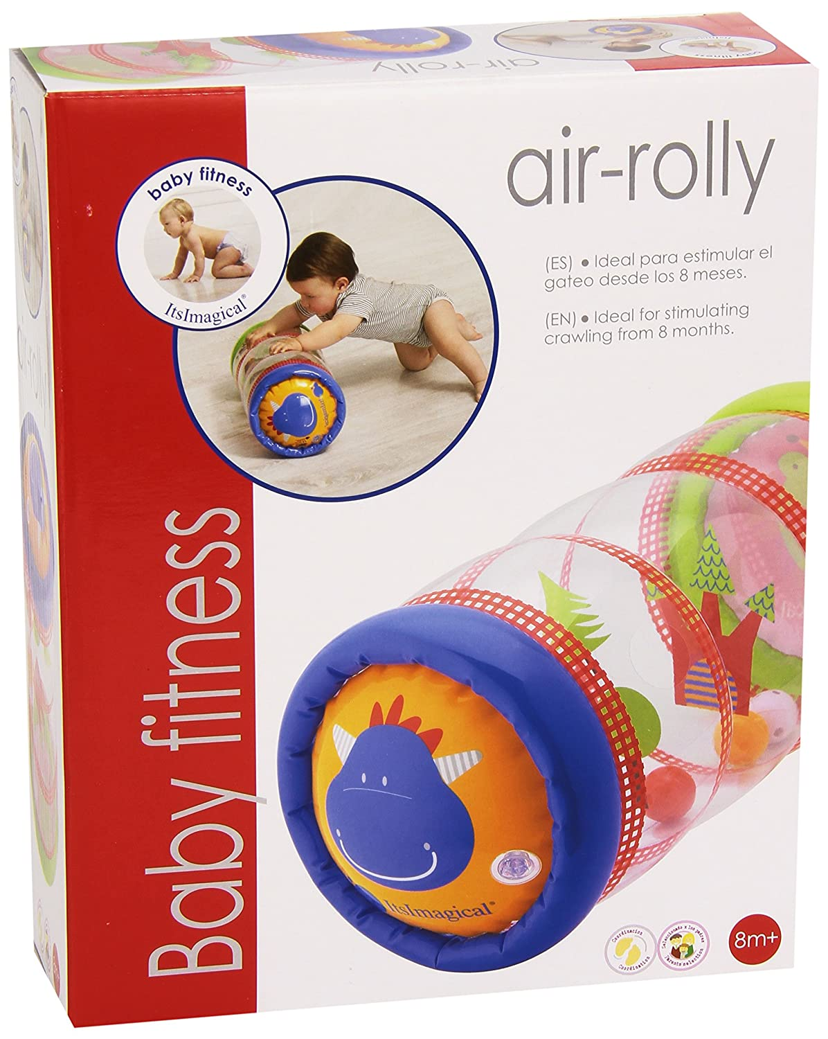 itsImagical - Baby Fitness Air-Rolly, Hinchable sonajero para ...