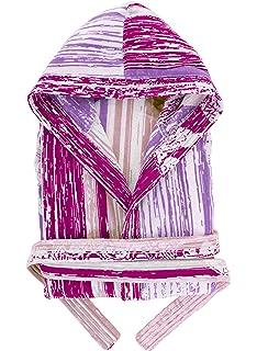 036b35ceac Accappatoio da bagno unisex in cotone 100% con cappuccio, tasche e cintura