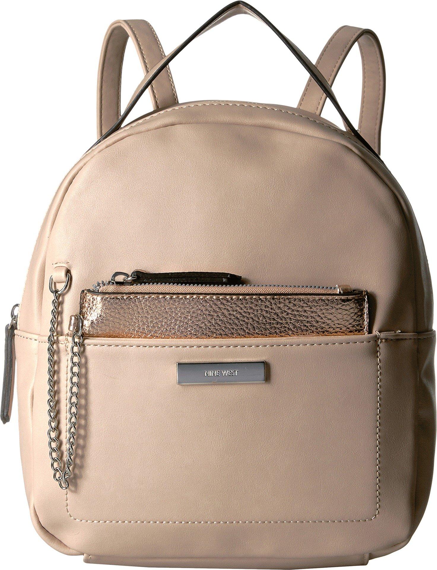 Nine West Women's Tanaya Backpack Cashmere/Metallic Rose Gold One Size