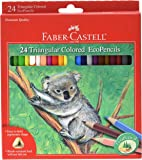 Faber-Castell Triangular Colored EcoPencils - 24 Count