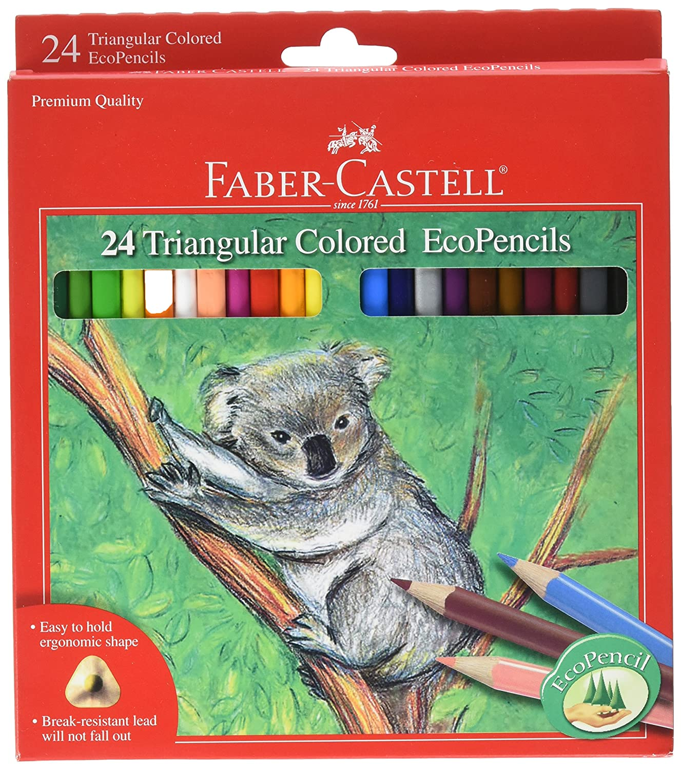 24 eco lapices de colores Faber Castell (xmp)