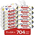 704-Count (11 x 64-Pack) Huggies Simply Clean Unscented Baby Wipes