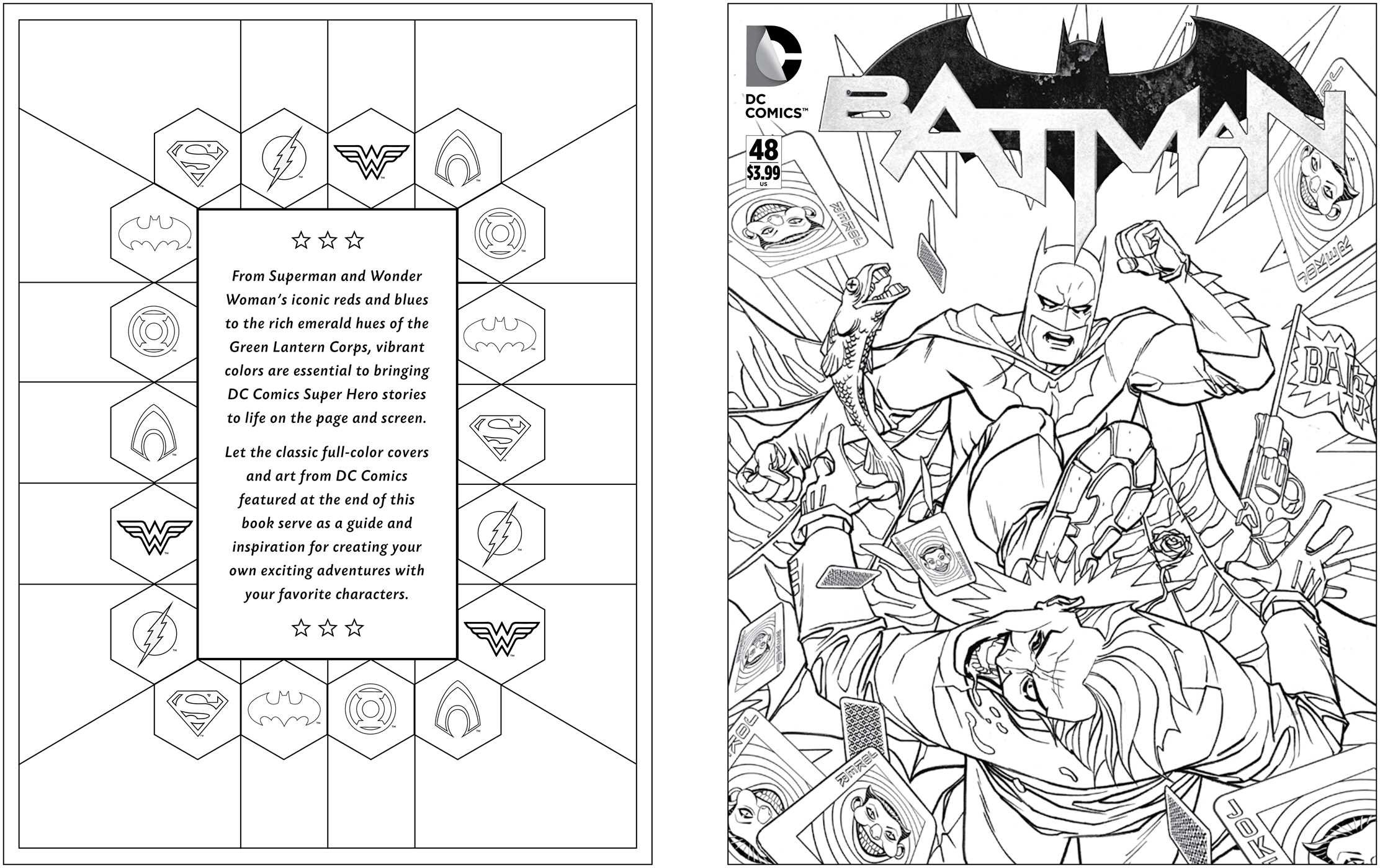 amazoncom dc comics coloring book 9781608878291 insight editions books