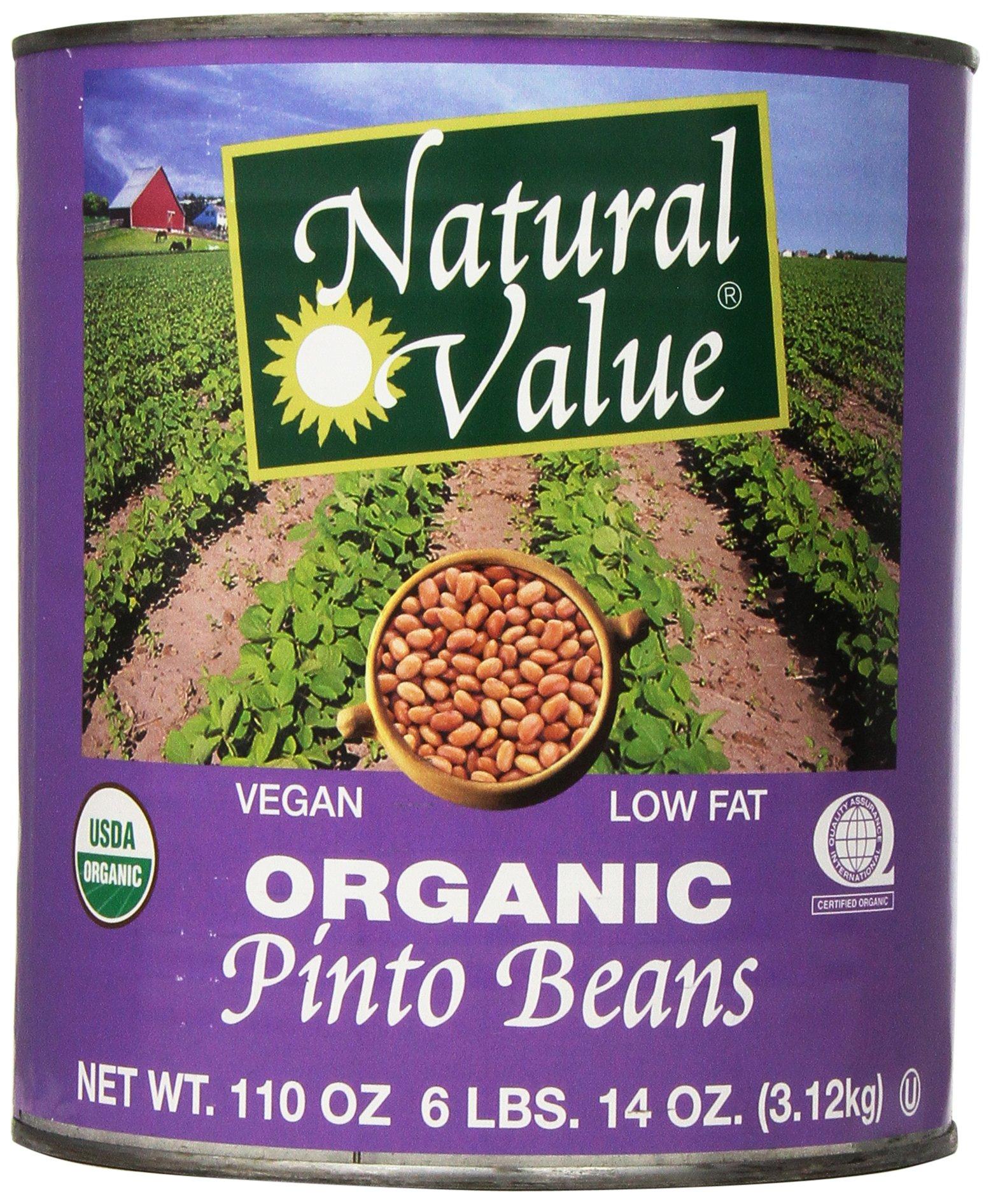 Natural Value Organic Pinto Beans, 110 Ounce