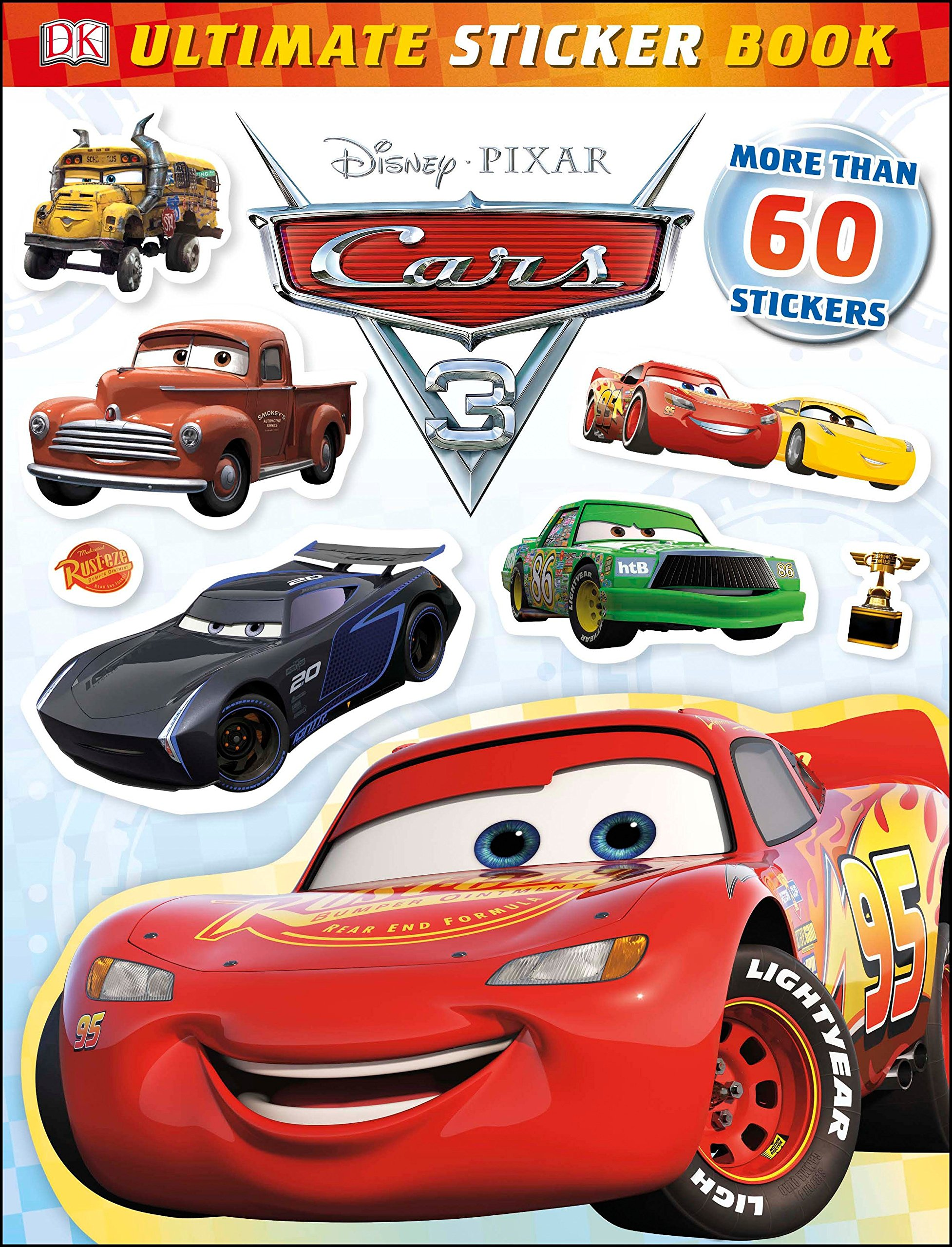 Download Ultimate Sticker Book: Disney Pixar Cars 3 (Ultimate Sticker Books) pdf
