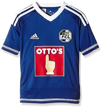 Adidas para niños Camiseta de fútbol del FC Luzern Azul Pride Ink F13/White Talla
