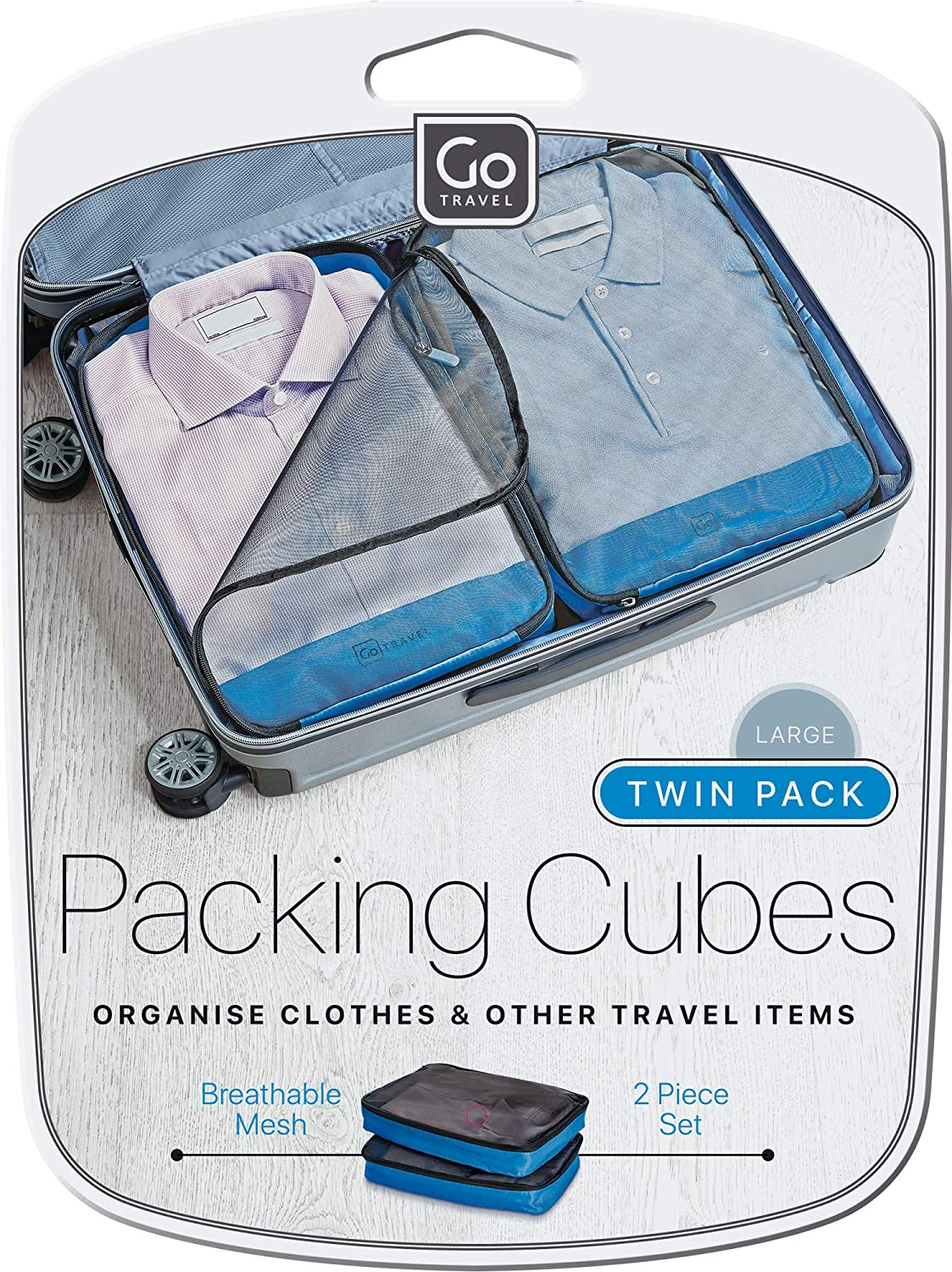 2 Piece Set Lightweight and Breathable Large Capacity Ref 285 Go Travel Clothes//Garment Suitcase Packing Cubes