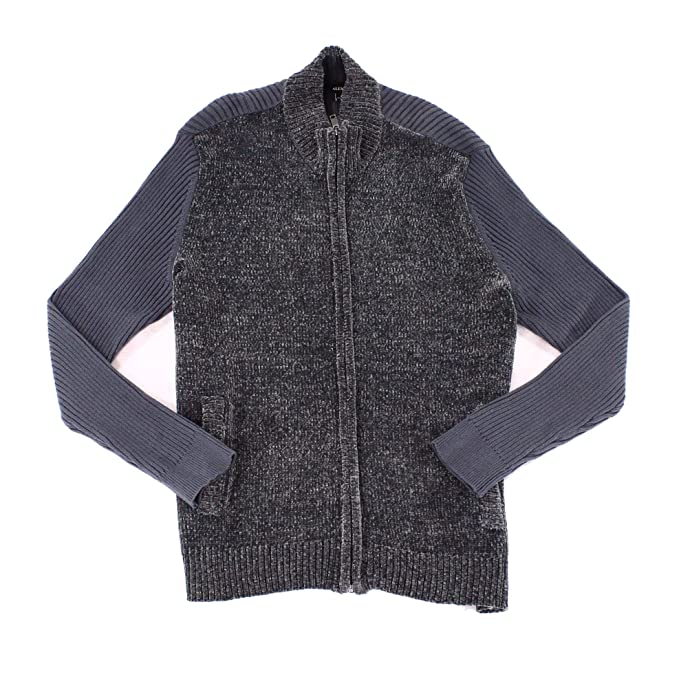 Amazon.com: Alfani hombre chenilla full-zip chaqueta de ...